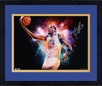 11bb4a4b56c3 Framed Kevin Durant Golden State Warriors Autographed 16 quot  x 20 quot   Cosmic Photograph - Limited