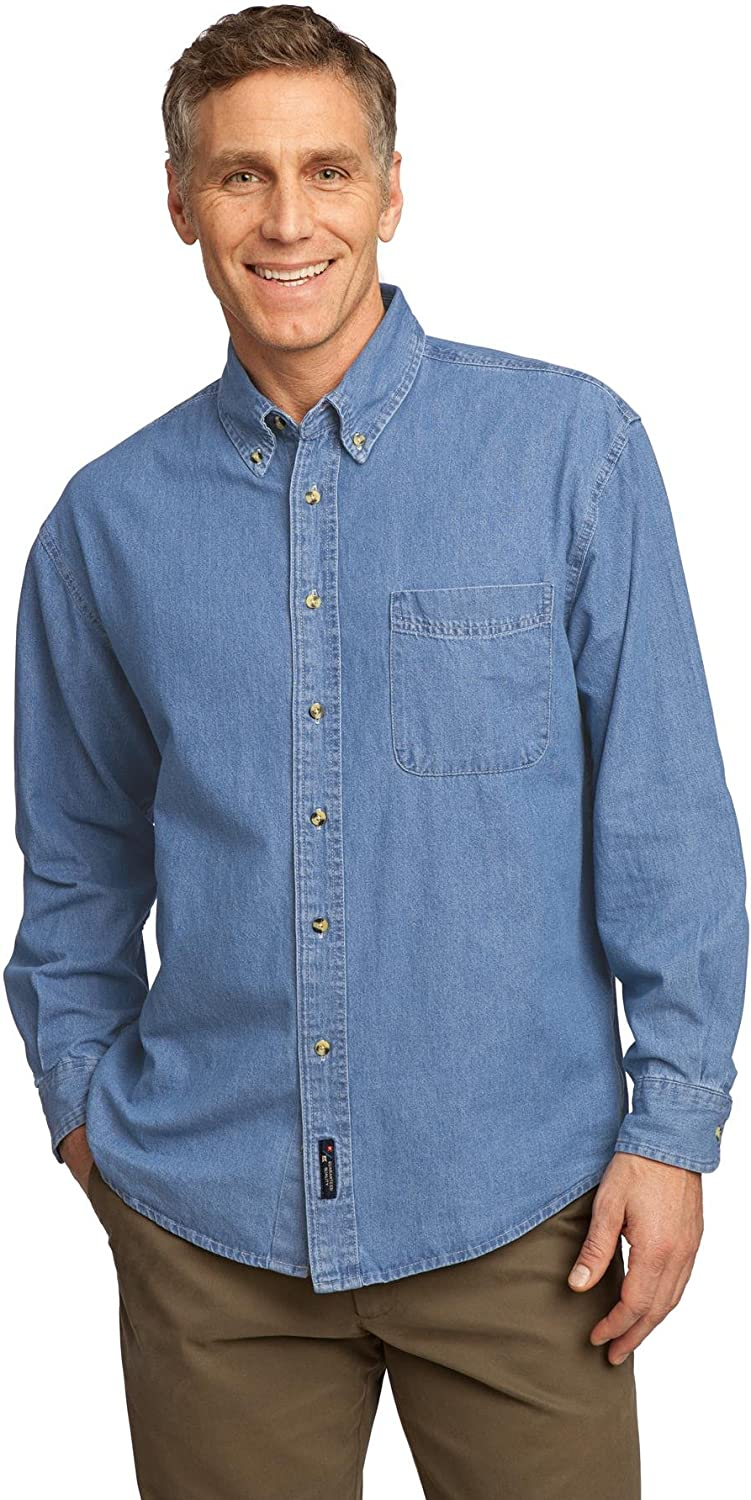 Long Sleeve Value Denim Shirt Port /& Company SP10