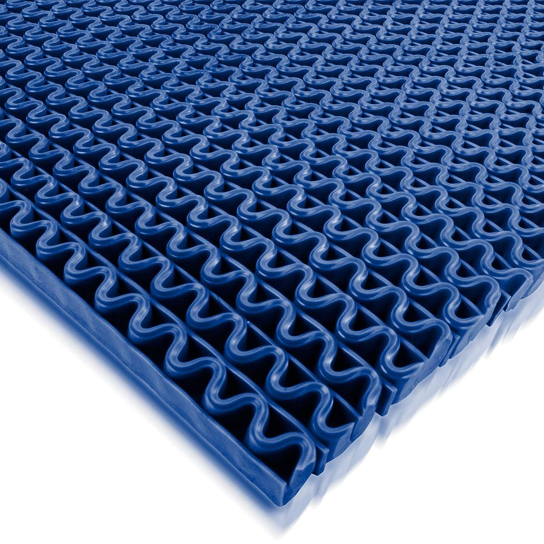 f/ür Nassbereiche wie Schwimmb/äder Duschr/äume Sauna stark rutschhemmend Blau Gr/ö/ße 120 x 500 cm Hygienematte Anti-Slip viele Gr/ö/ßen