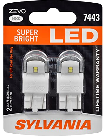 SYLVANIA - 7443 T20 ZEVO LED White Bulb - Bright LED Bulb, Ideal for Daytime