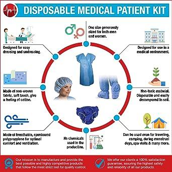 Amazon.com: Medint Complete Patient Clothes Kit - Includes ...