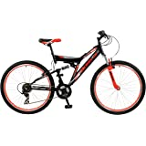 BOSS Men's Venom Mountain Bike, Black and Red, 26