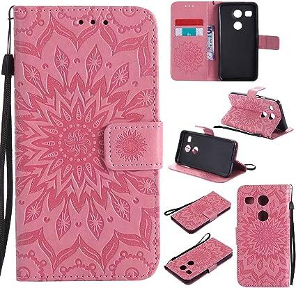 Guran® Funda de Cuero para LG Nexus 5X 5.2 Smartphone Función de ...