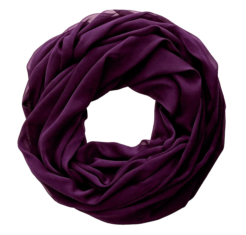5b0116aa017ba Amazon.com: Dark Purple Solid Color Infinity Chiffon Scarf for Women  Mother's day Gift: Handmade