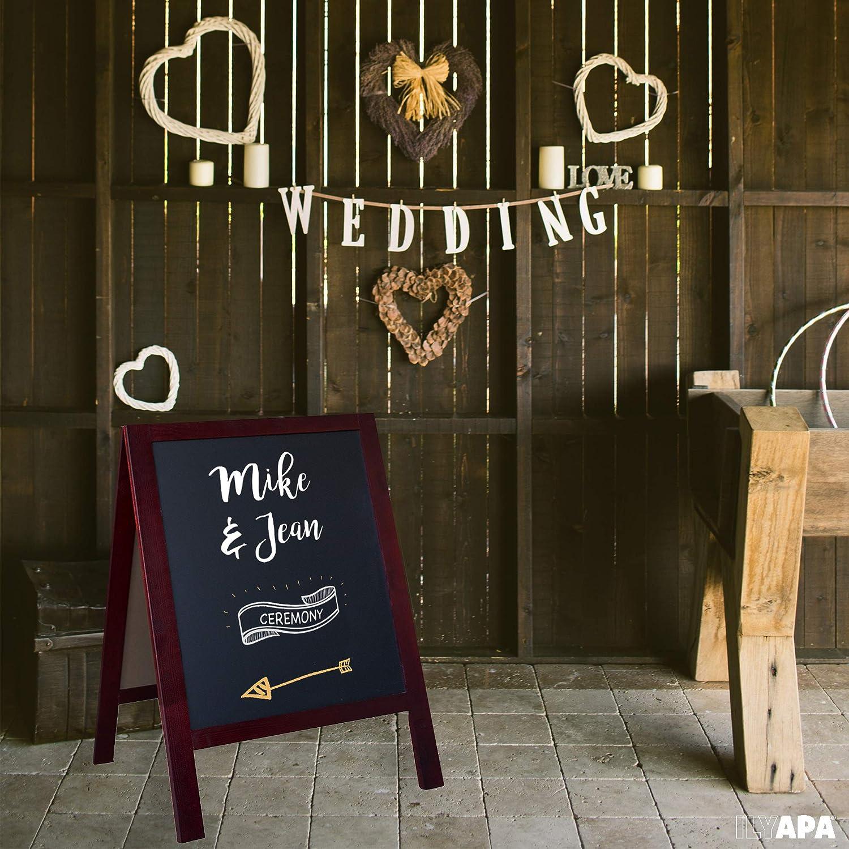 Wooden A-Frame Sign with Eraser /& Chalk 40 x 20 Inches Magnetic Sidewalk Chalkboard Business Or Wedding Sturdy Freestanding Sage Sandwich Board Menu Display for Restaurant