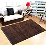 Yellow Weaves™ Brown Feather Touch Carpet - 3 X 5 Ft
