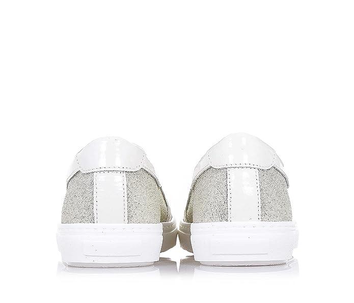 Negro Negro CIAO BIMBI Zapato glitter de tejido platino de glitter Zapato y cuero f1a335