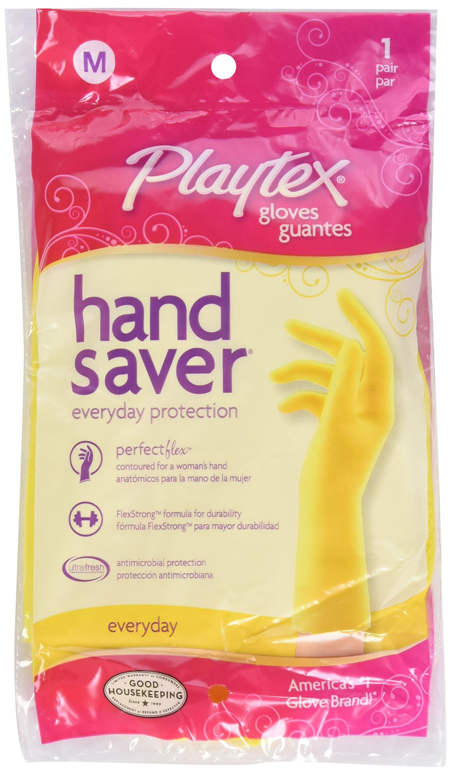 Playtex Handsaver Reusable Rubber Gloves (Large, Pack - 6) by Playtex