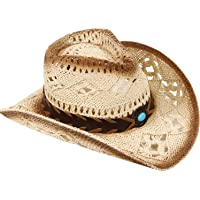 1d039c3ef4f45 Livingston Men   Women s Woven Straw Cowboy Hat w Hat Band Décor