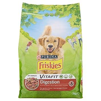 Friskies vitafit Digestion pienso para el Perro, con Cordero y cicoria, 3 kg: Amazon.es: Productos para mascotas
