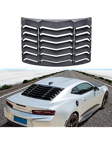 Rear Window Louver Matte Black Sun Shade Windshield Cover in GT Lambo Style for Chevy Chevrolet