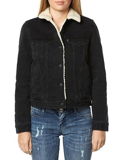 fa117ae72314 Levi s Womens Womens Original Sherpa Trucker Jacket in Black - 10 ...