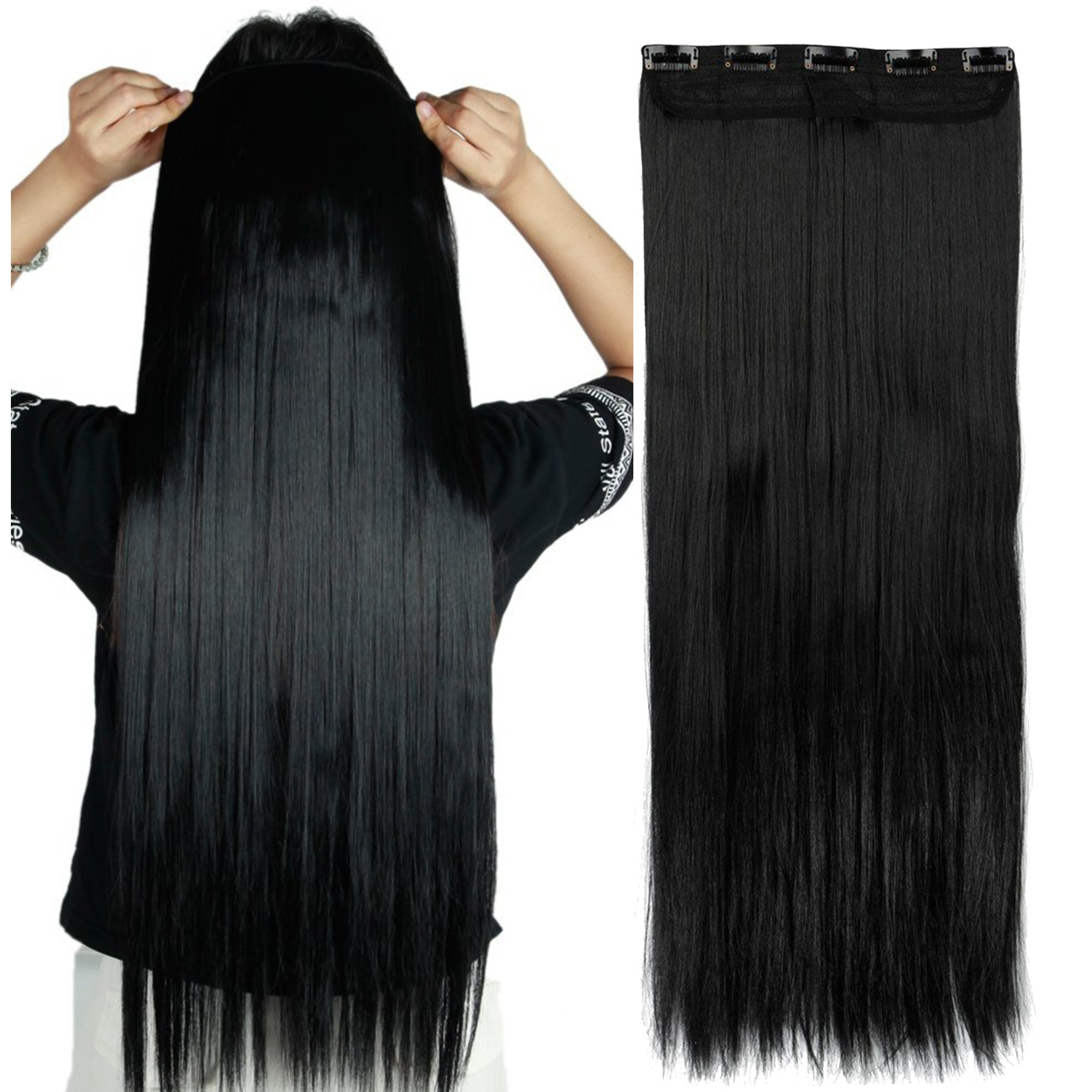 Amazon Straight Remy Human Hair Clip In Hair Extensions 26