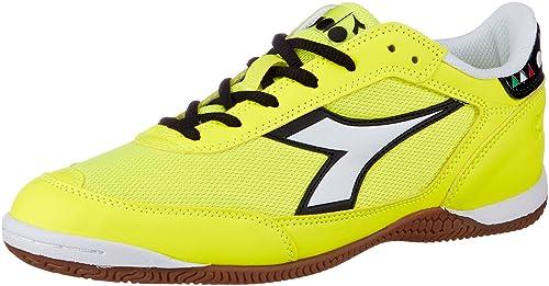 Diadora Cinquinha ID, Zapatos de Futsal para Hombre, Amarillo (Giallo FL DD Bianco Ottico), 41 EU: Amazon.es: Zapatos y complementos