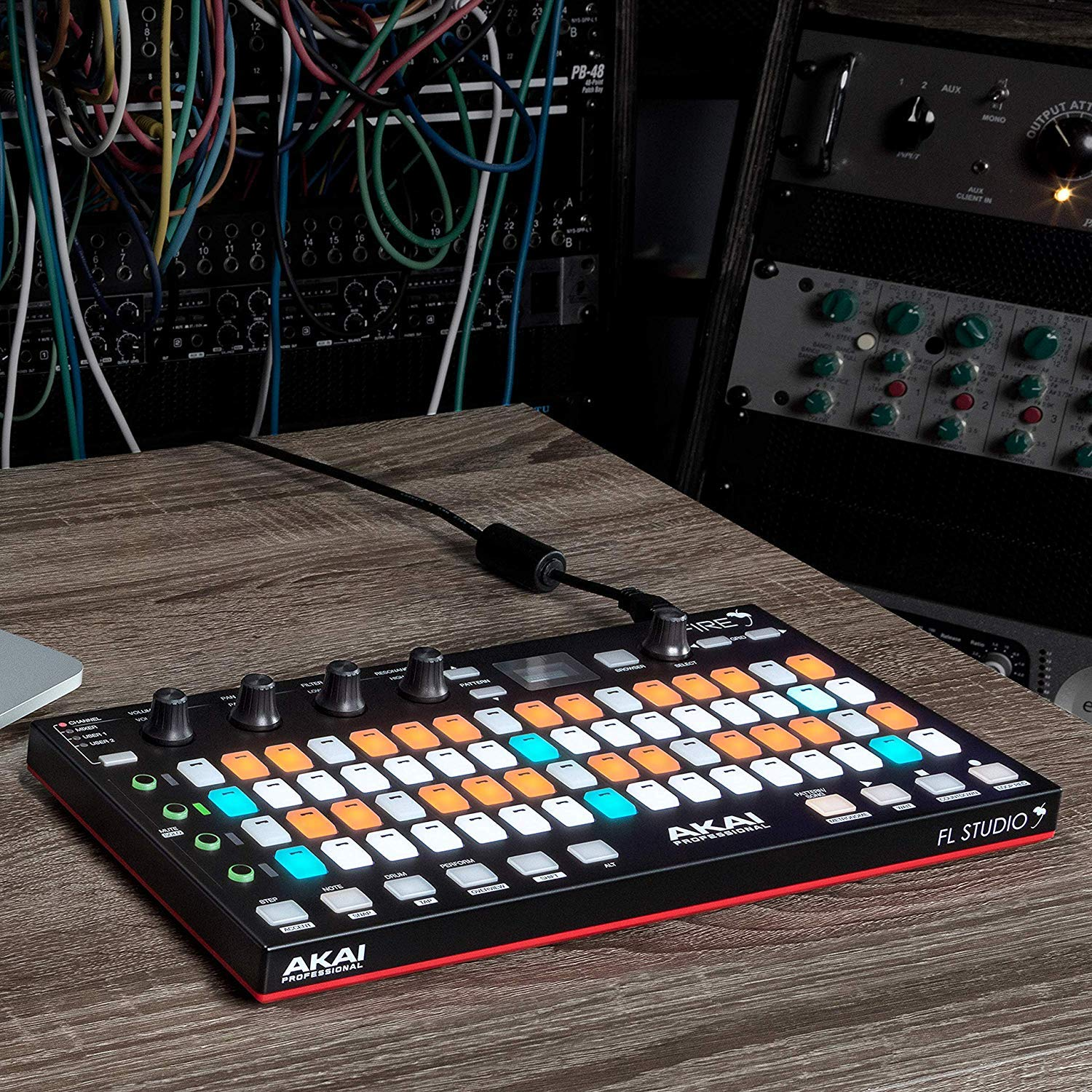 Akai Professional Fire | Performance Controller for FL Studio With 4 x 16 Velocity-Sensitive RGB Clip Matrix, OLED Display and FL Studio Fruity Fire Edition Included by Akai Professional (Image #5)