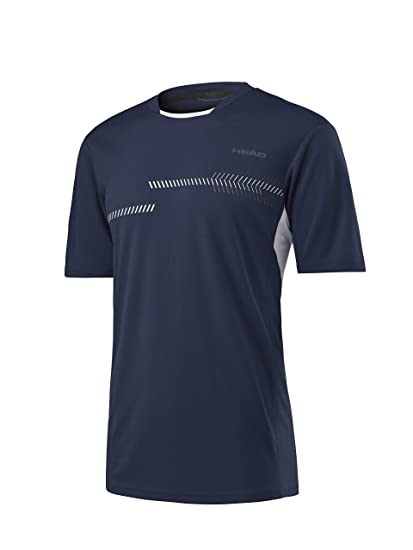 Head Club Technical Camiseta Deporte de Tenis, Hombre, Navy, S