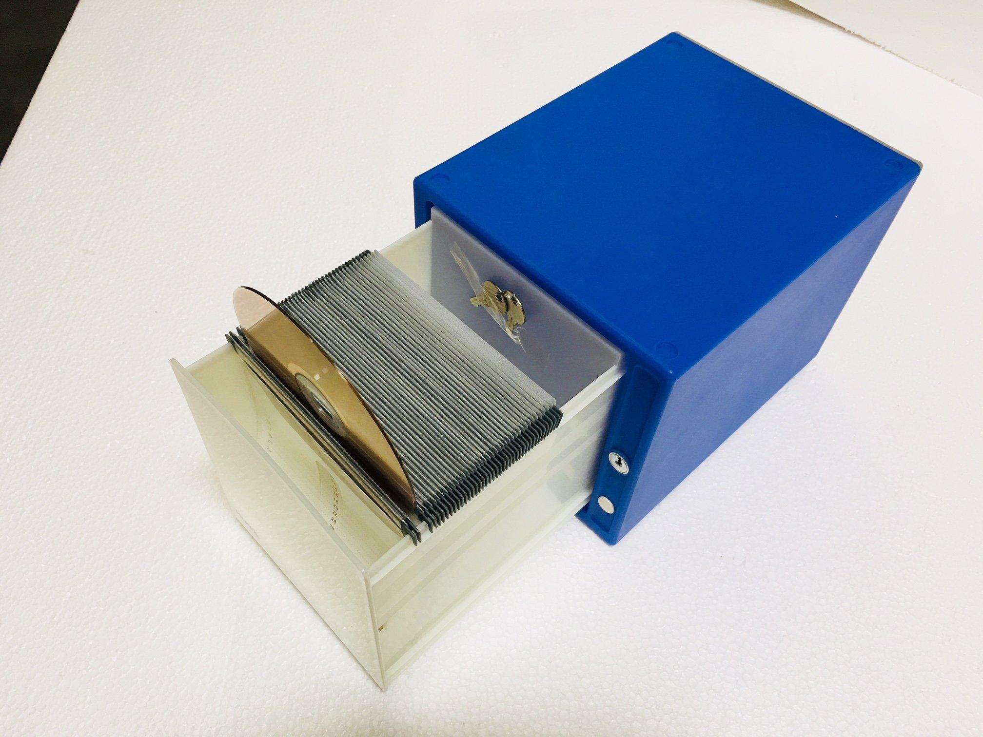 HipCE One Touch CD/DVD Box (80 Discs, Dark Blue)