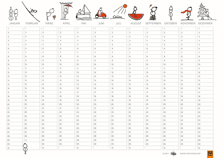 idioma alem/án DIN A4 Pack de 3 planificadores // calendarios de cumplea/ños Meycard/ v/álido para cualquier a/ño