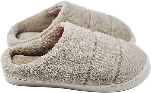 Men Women Lover Anti-Slip Memory Foam Winter House Slippers Flats Indoor Shoes