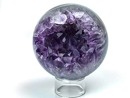 Amethyst Geode Agate Sphere - AGS11: Amazon co uk: Kitchen & Home