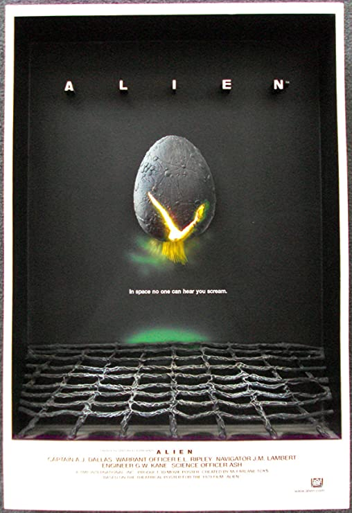 ALIEN movie 3-D Lighted Poster Sculpture McFarlane Toys