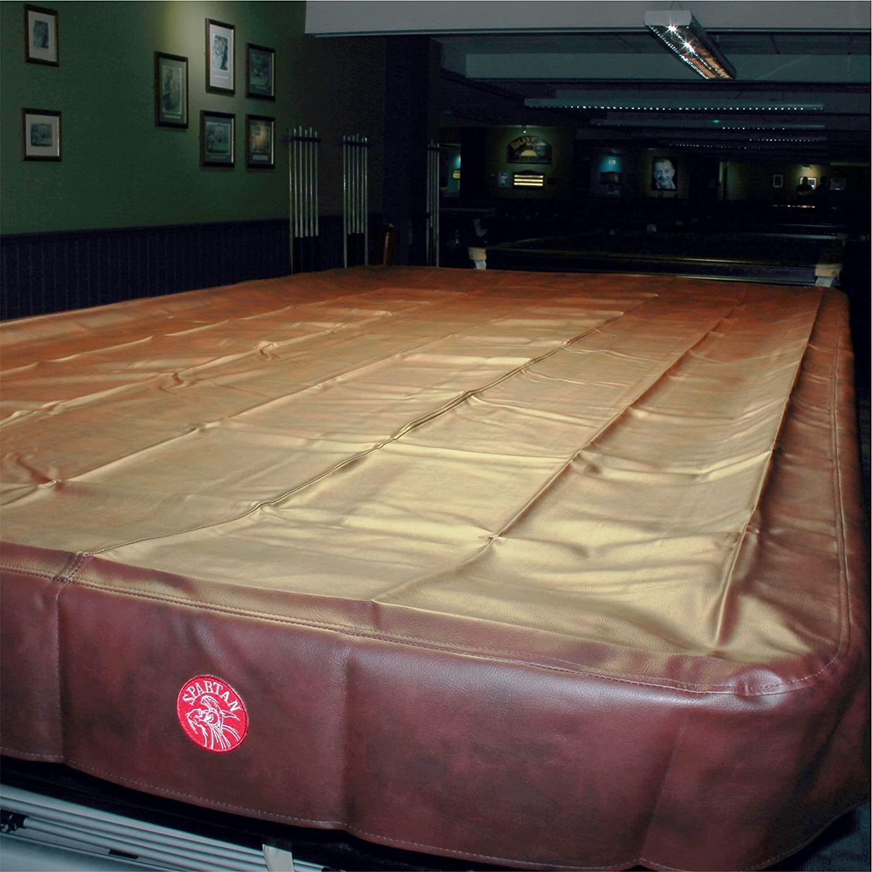 Spartan robuster, wasserabweisender Snooker-Tischbezug in voller Größe–365 cm, burgunderrot jonny 8 ball