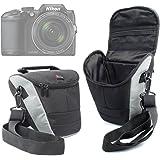 Housse de transport moyenne pour appareils photo Panasonic Lumix GF8 et DMC-FZ300, Nikon Coolpix B500 et B700 Bridge et Pentax K-1 SLR et leurs accessoires + bandoulière BONUS, par DURAGADGET