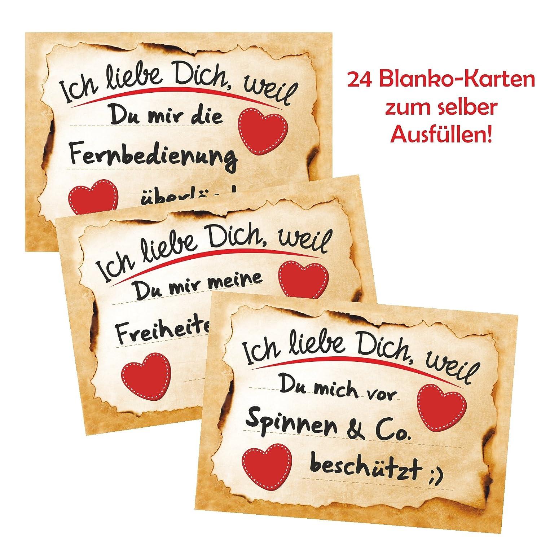 Adventino Adventskalender Mit 24 Karten Ich Liebe Dich Weil In 24