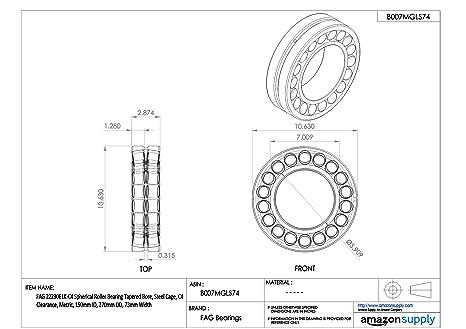 22212ESTVPBC3 FAG New Spherical Roller Bearing