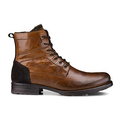 großhandel online Geschicktes Design Großhandel Cox Herren Herren Winter-Boots aus Leder, Schnür-Stiefel in Braun mit  weichem Warmfutter