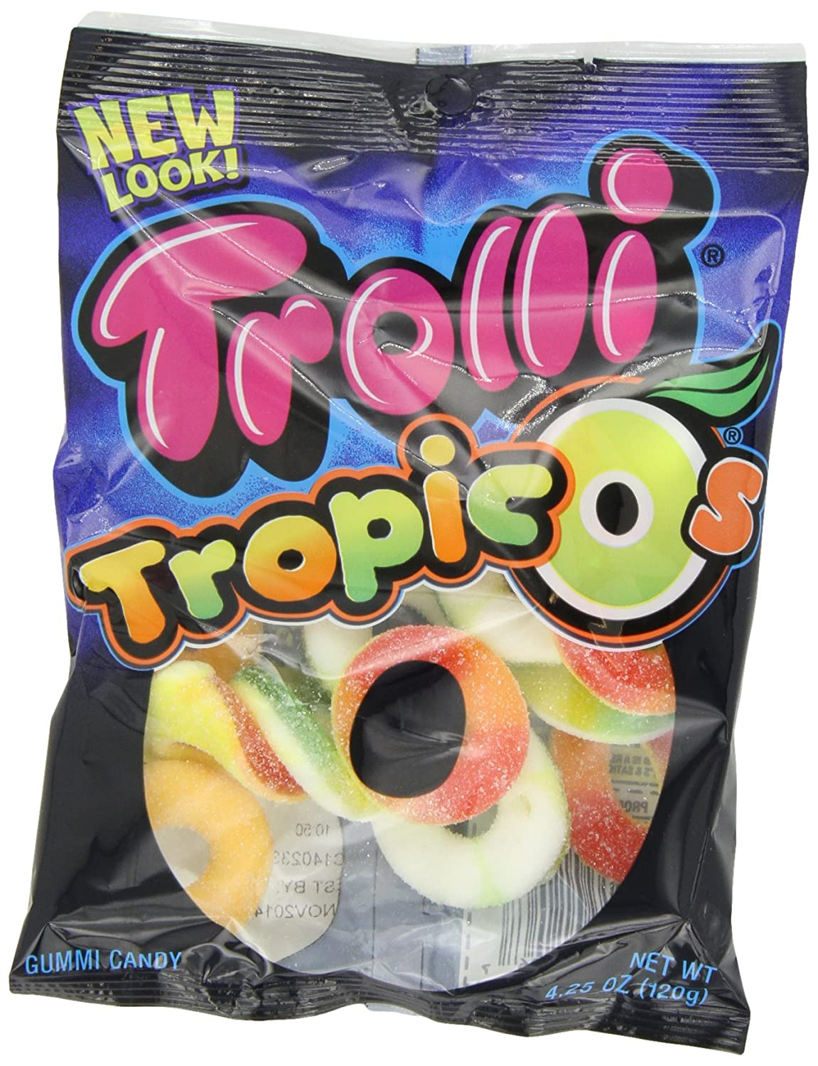 Trolli Tropic O's Gummy Candy, 4.25 Ounce Bag, Pack of 12