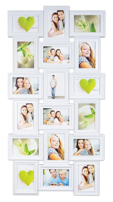 Amazon.de: levandeo Bilderrahmen - Weiß für 18 Fotos 10x15 cm ...