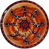 Continental Art Center Kokopellis Glass Plate, 18-Inch