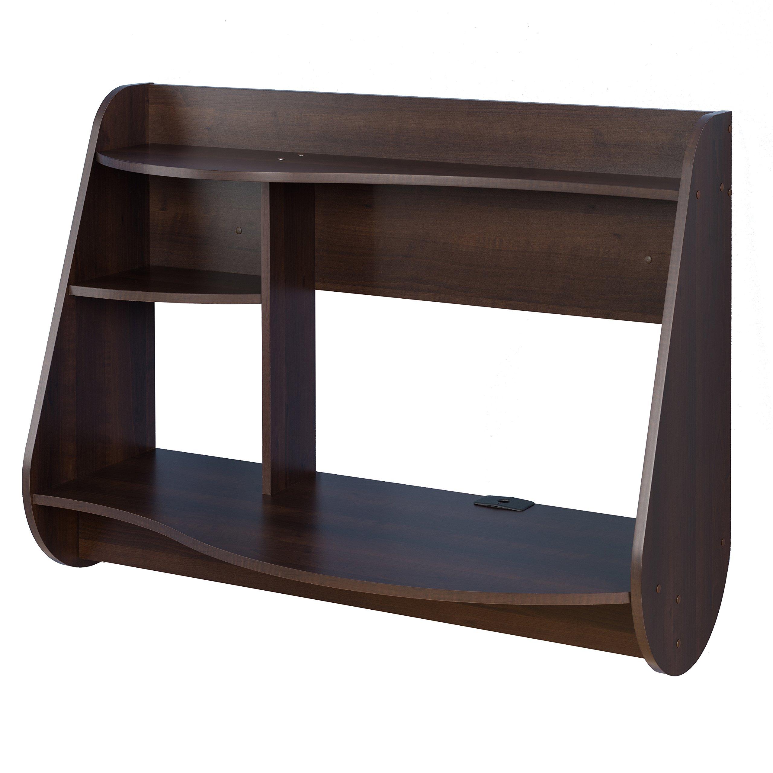 Prepac Kurv Floating Desk, Espresso