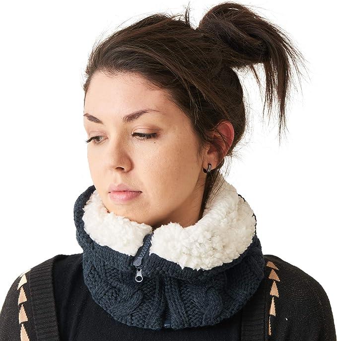 Casualbox Unisex Neck Warmer Knit Neck Gaiter Camo Warm Winter Knitted Scarf