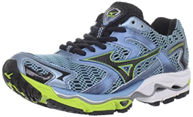 Mizuno Women's Wave Nirvana 8 Running Shoe,Heritage Blue/Anthracite/Lime  Punch,