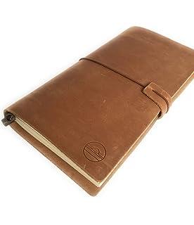 Cuaderno de piel genuina. Cuaderno de viaje. Travel diary. Travelers notebook, 22