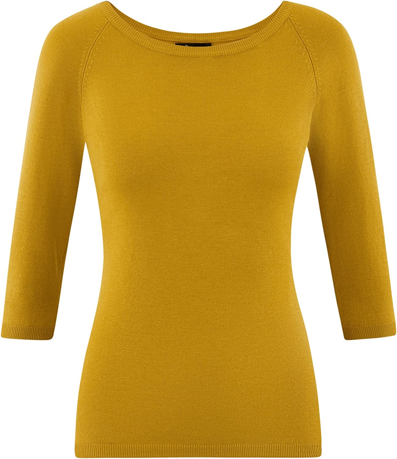 oodji Collection Femme Pull Basique /à Manches 3//4