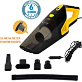 Voroly 5000PA Voroly High Power Handheld Car Vacuum Cleaner for Car Dry and Wet DC12V (STEEL HEPA Filter)
