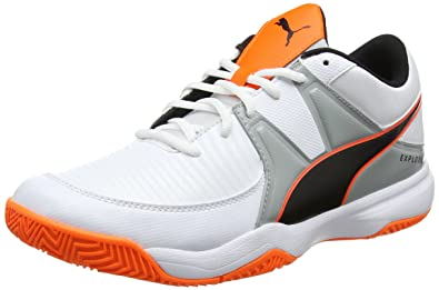 buy popular 460e5 65b4b Puma Men s Explode 3 Handball Shoes, White-Quarry-Shocking Orange 2 5.5 UK
