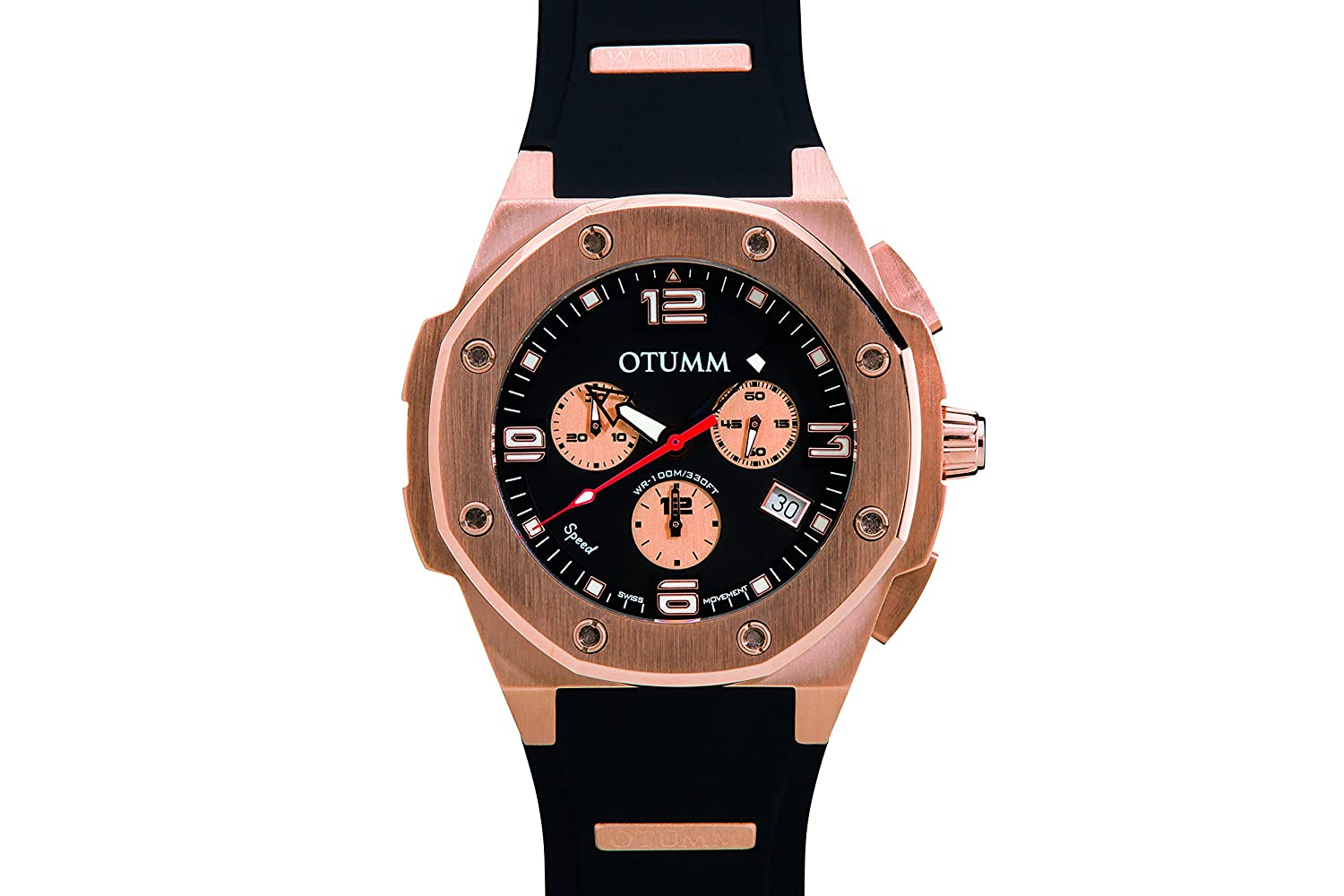 Otumm Speed Rose Gold - schwarz 45mm