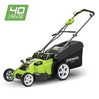 Greenworks Tondeuse à gazon sans fil sur batterie avec doubles lames 49cm 40V Lithium-ion (sans batterie ni chargeur) - 2500207