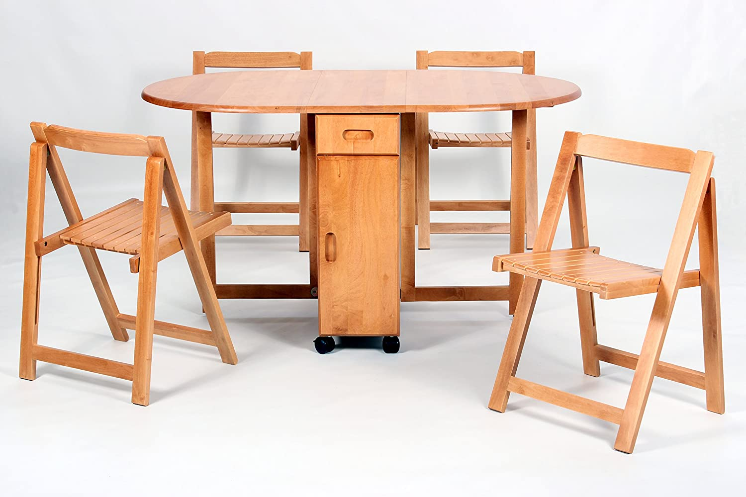 - Butterfly Drop Leaf Table With 4 Foldable Chairs: Amazon.co.uk