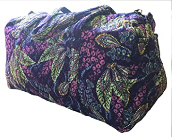 978f3001be Image Unavailable. Image not available for. Color  Vera Bradley Batik  Leaves Large Duffel