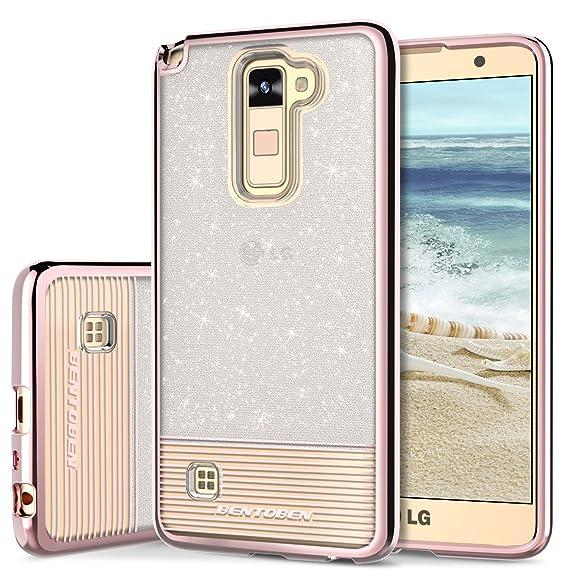 super popular 1259f 6aa74 Phone Case for LG Stylo 2 Plus, LG Stylus 2 Case, LG Stylo 2 Case, BENTOBEN  Shockproof Ultra Slim Dual Layer Hybrid Bling Glitter Case Cover for LG ...