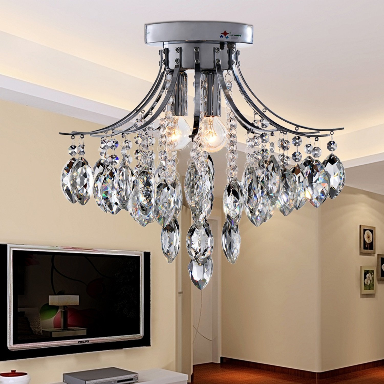 OOFAY LIGHT® Contemporáneo minimalista 3 luz de cristal Lámpara ...