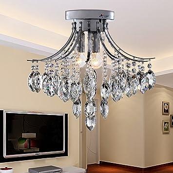 oofay light® moderne minimalistische 3 lichtkristall flush mount ... - Moderne Deckenleuchten Fur Wohnzimmer