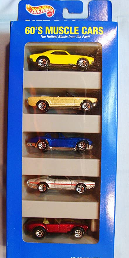 Amazon Com Hot Wheels Gift Pack 60 S Muscle Cars Toys Games