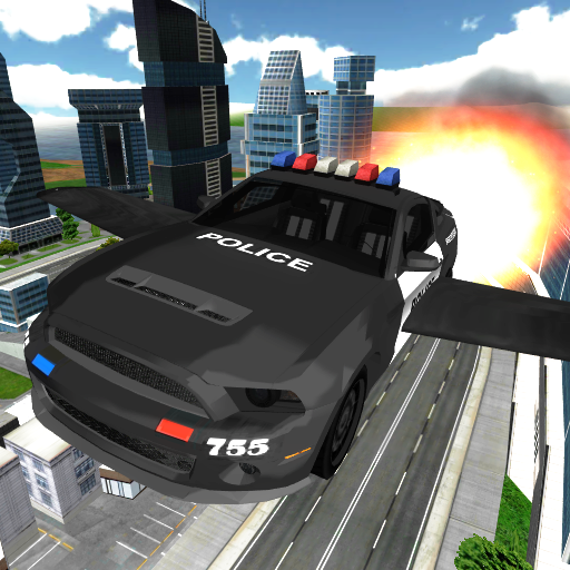 (Flying Police Car Chase)