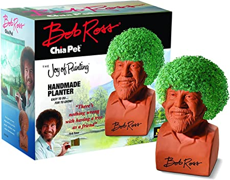 Chia Pet Bob Ross With Seed Pack Decorative Pottery Planter Easy To Do And Fun To Grow Novelty Gift Perfect For Any Occasion Amazon Co Uk Garden Outdoors
